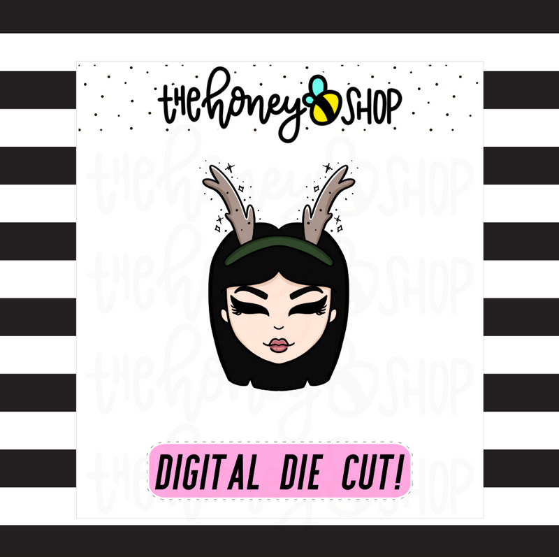 Reindeer Babe | DIGITAL DOWNLOAD | PICK YOUR SKIN TONE