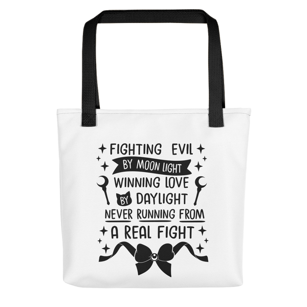 Fighting Evil Tote | Black Print