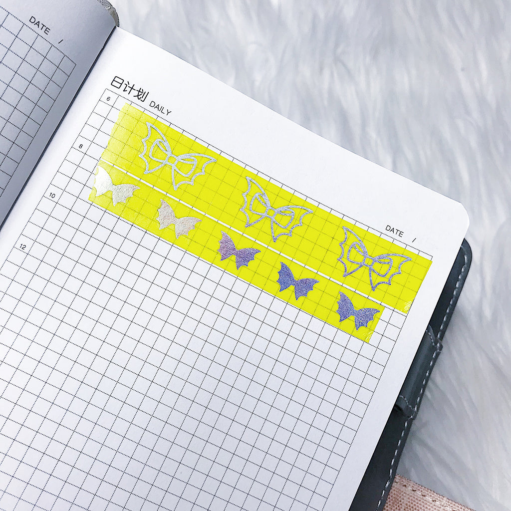 Honey B Yellow Holo Bat Bow Washi Bundle | NO COUPONS