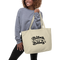 Babes Support Babes Black Tote | White Print