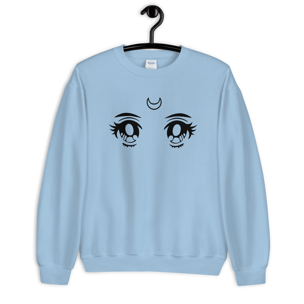 Moon Eyes | Light Blue Unisex Sweatshirt