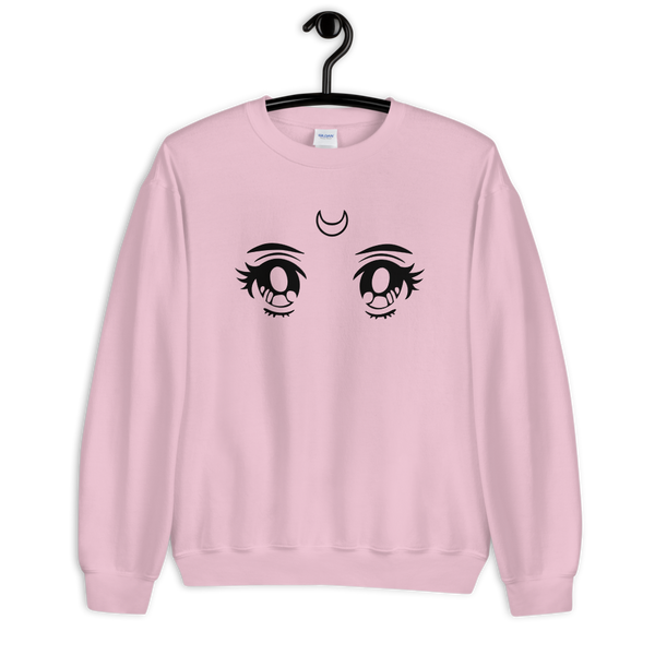 Moon Eyes | Pink Unisex Sweatshirt