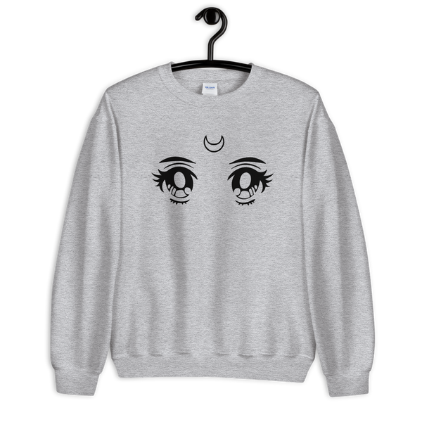 Moon Eyes | Grey Unisex Sweatshirt