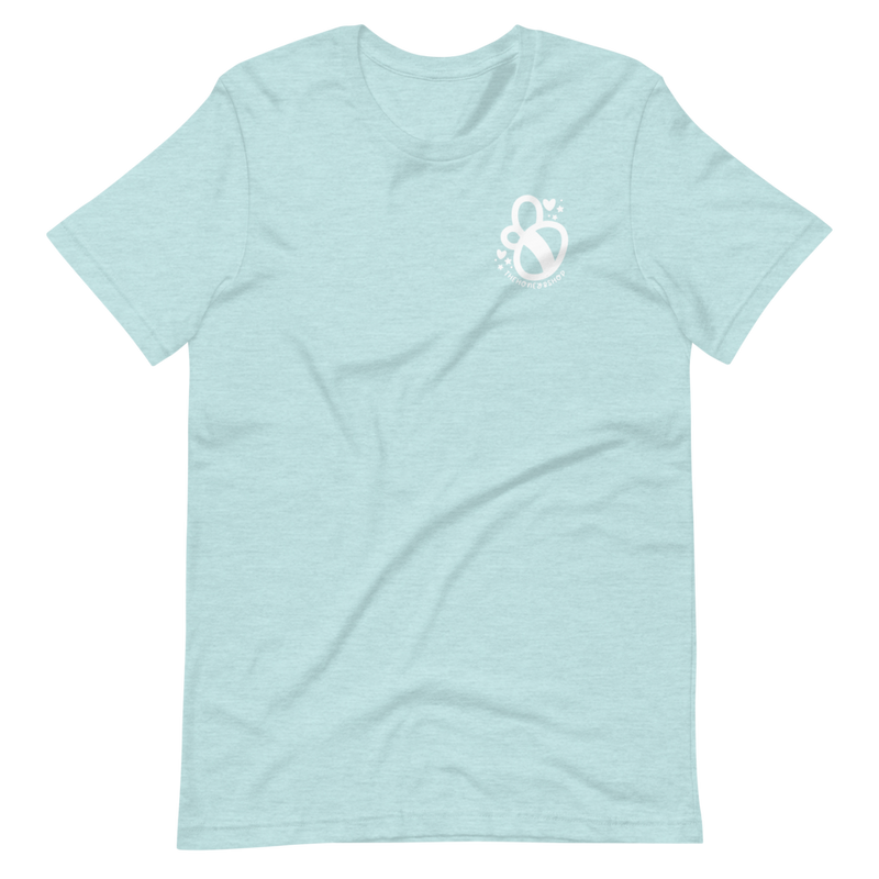 Crafty AF | Light Blue Unisex T-Shirt | FRONT + BACK Print | Bella + Canvas 3001