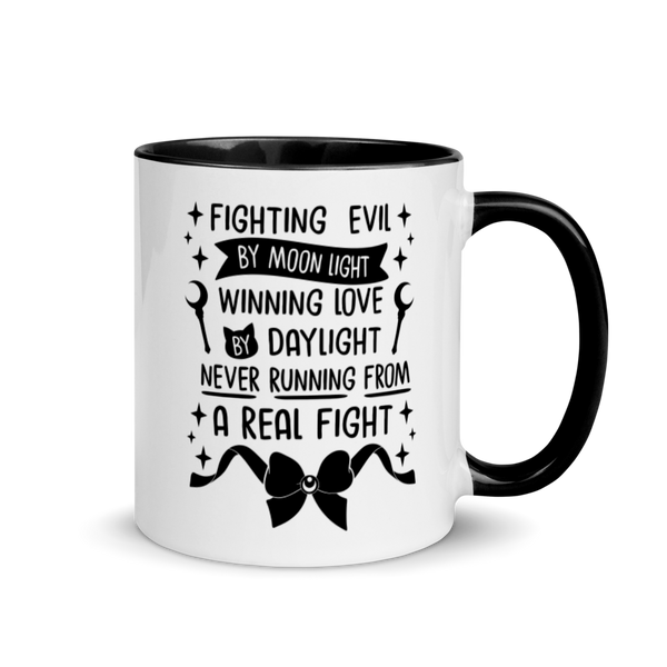 Fighting Evil Black Mug | 11 oz