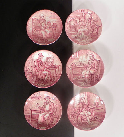 Wedgwood Professionals Coaster (s) LOT OF 6 Pink and White Sweet Dish England