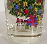 HOLIDAY MAGIC Christmas Tree Glass Tumbler (s) LOT OF 4 EUC Action Industries