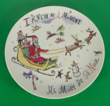 Crate & Barrel TWAS THE NIGHT Christmas Porcelain Snack Plate (s) LOT OF 3
