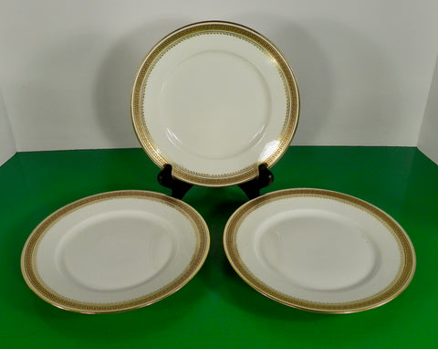 Antique Wm Guerin Co Limoges GREEK KEY Salad Dessert Plate (s) LOT OF 3 GUE6