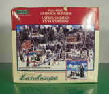 Lemax Christmas Village Landscape Accessory CURIOUS BUNNIES Poly-Resin EUC