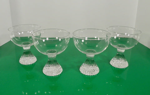 Lenox ICICLE Champagne Tall Sherbet Goblet (s) LOT OF 4 Tempo Line Clear Crystal