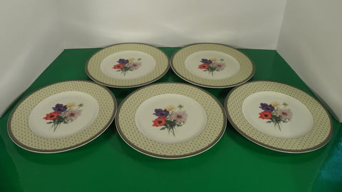 Mikasa POPPY MEMORY Salad Plate (s) LOT OF 5 Optima Y4002