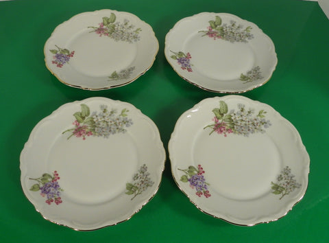 Mitterteich Bavaria LILAC Bread Plate (s) LOT OF 4