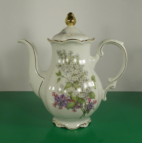 Mitterteich Bavaria LILAC Coffee Pot with Lid 6-Cup