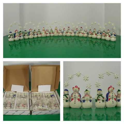 Princess House Snowman Snowpeople Placecard Holders 2259 Original Box TWO SETS