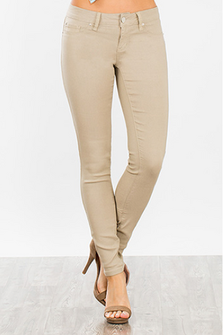 Super Stretch Jeggings - Khaki