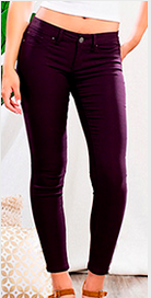 Hyper Stretch Jeggings - Eggplant