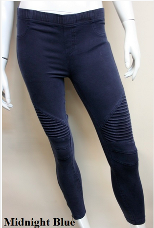 Hello Moto Navy Leggings