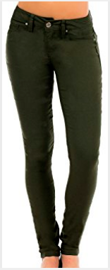 Super Stretch Jeggings - Dark Olive