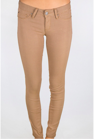 Super Stretch Jeggings - Camel