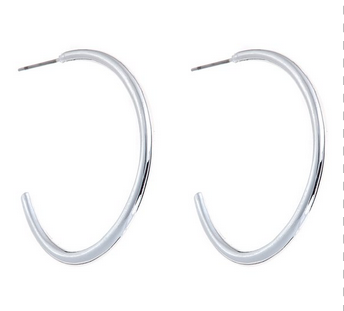 Savannah Silver Hoop Earrings