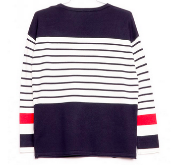 Mix Stripe/Solid Sweater