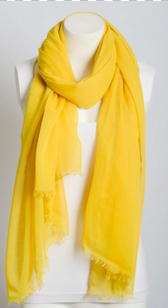 Ultra Lightweight Frayed Edge Scarf - Chartreuse