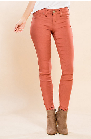 Super Stretch Jeggings - Rose