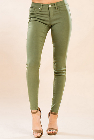 Super Stretch Jeggings - Olive