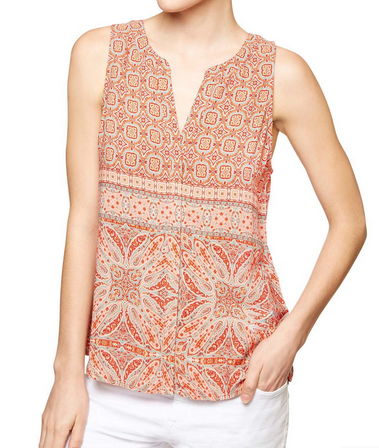Sanctuary Print Shell Top