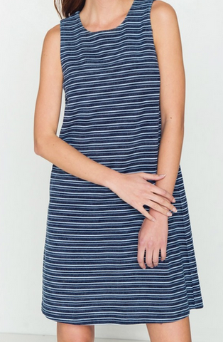 Light Weight Denim Striped Dress