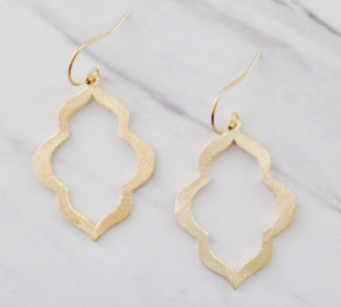 Hammered Gold Plated Earrings
