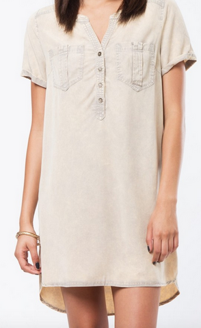 Tencel Shirt Dress - Khaki