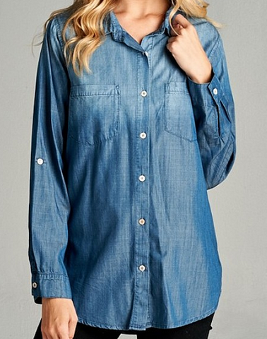 Lovely Lyocell Denim Shirt