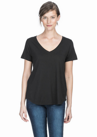 Pima Modal Short Sleeve V neck by Lilla P
