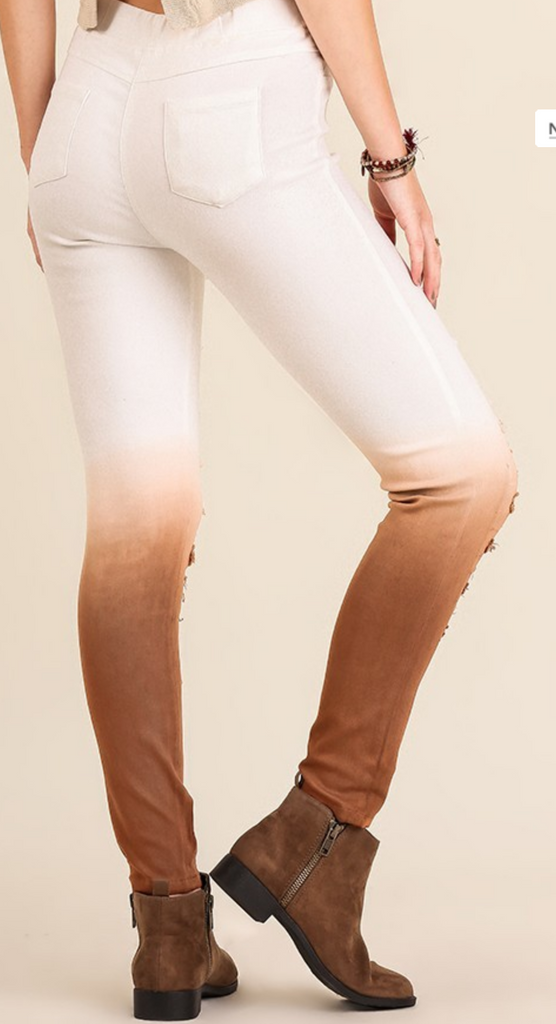 Ombre' Distressed Jeggings