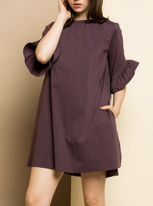 Plum Color Romper with Overlay