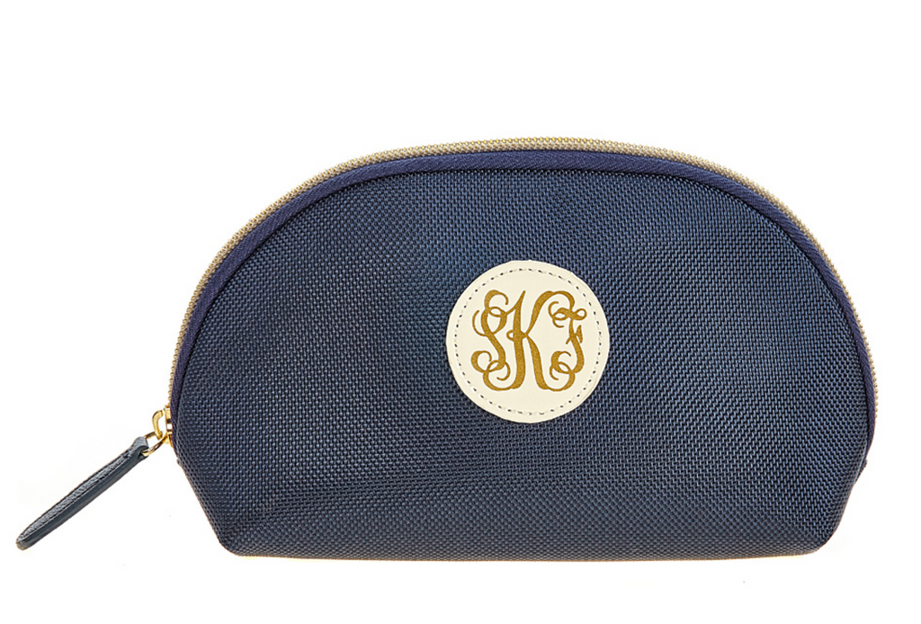 Monogrammed Travel Pouch - Navy