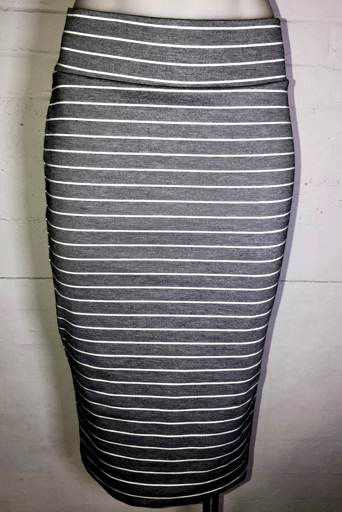 Limited Edition Striped Magic Skirt Grey WAS $95 NOW $50