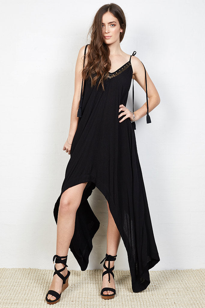 Canggu Coin Dress Black
