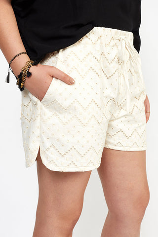 JoJo Cream Italian Eyelet Linen Shorts WERE $75 NOW $25 LAST PAIRS