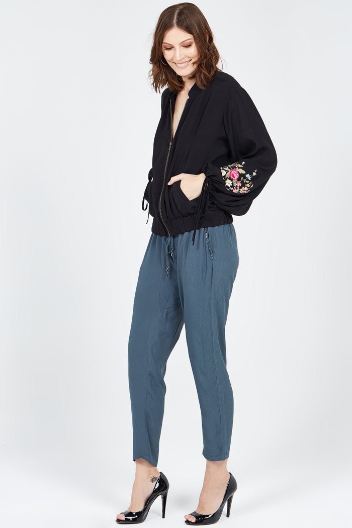 Cressida Beaded Pants In Storm WAS $95 NOW $50 ONLY 3 PAIRS LEFT