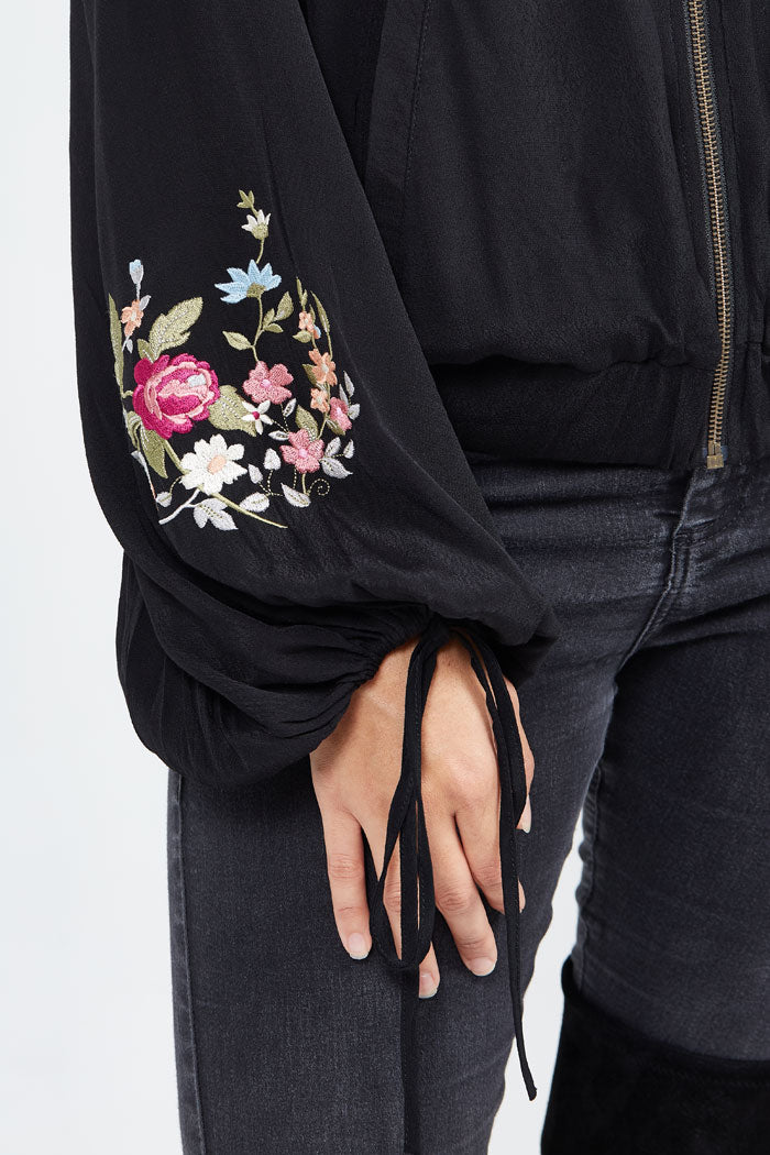 Ondine Embroidered Bomber was $135 now $50 ONLY 3 LEFT