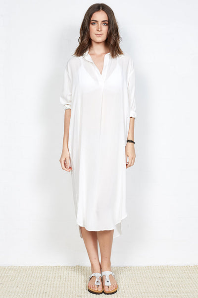 Brighton Beach Dress White