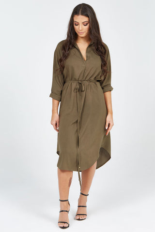 Angelica Dress Dark Olive was $97.50 now $55 only 4 left!