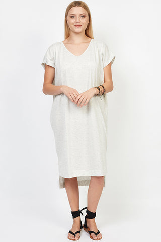 Caitlyn T-Shirt Dress Soft Grey was $85 now $30