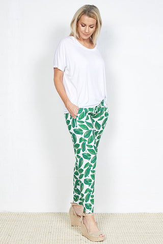 Cressida Pant With Exclusive Holly Neilson Leaf Print Limited Edition