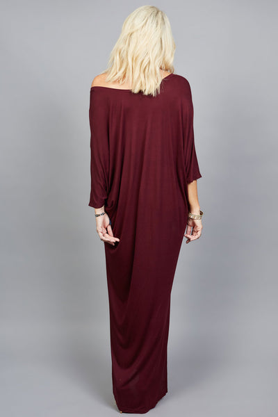 LouLou Maxi Dress - limited edition seasonal colour Shiraz