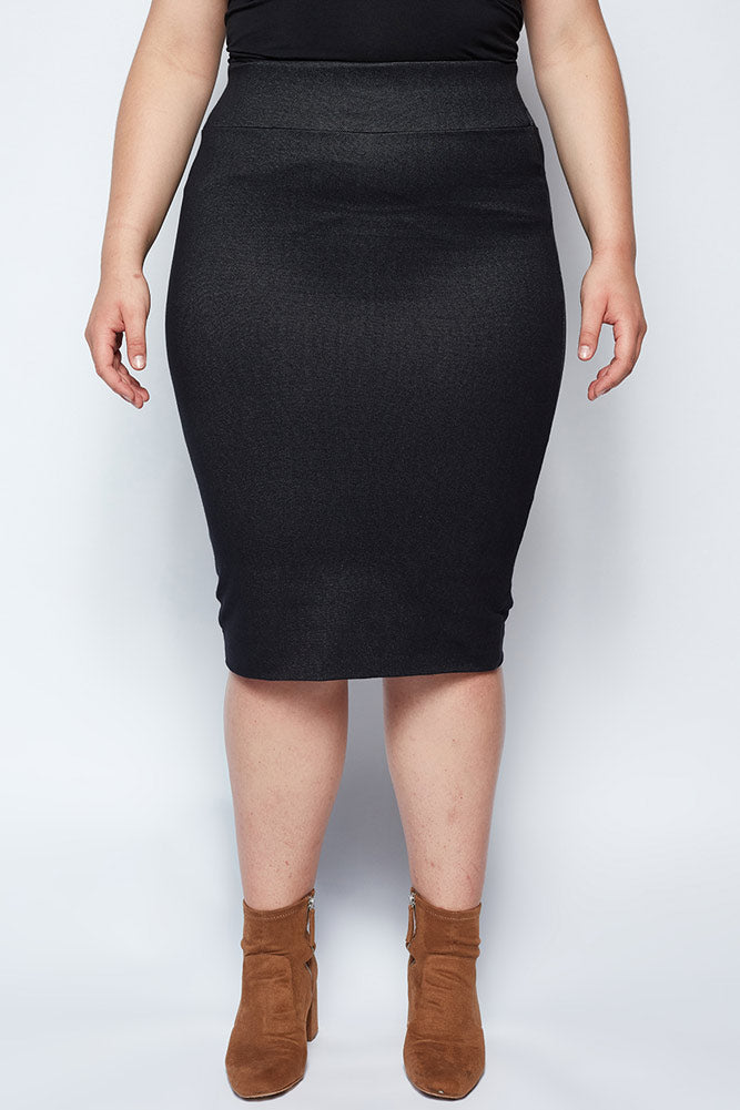 Magic Skirt Black Denim
