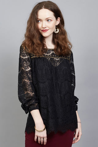 Siouxsie Limited Edition lace beaded top